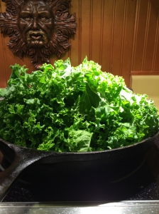 Before kale is cooked