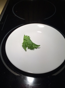 After kale is cooked.