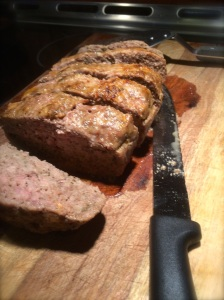 Slicing half cooked meatloaf is far easier than slicing raw meatloaf.