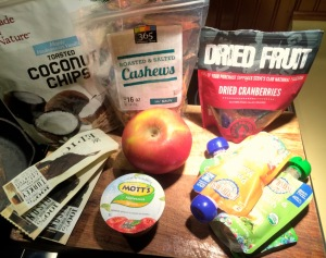 My clean food travel selections.