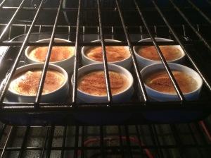 Autumn Apple Custard in the oven.