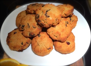 "The recipe yields 12 full sized scones, minus one for ""taste testing""."