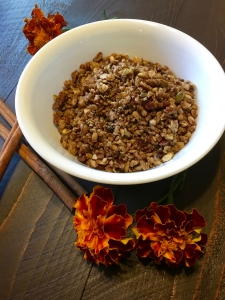 Closeup of the pumpkin spiced granola