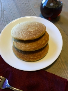 Once lightly golden brown on both sides, the pancakes should have the perfect texture.